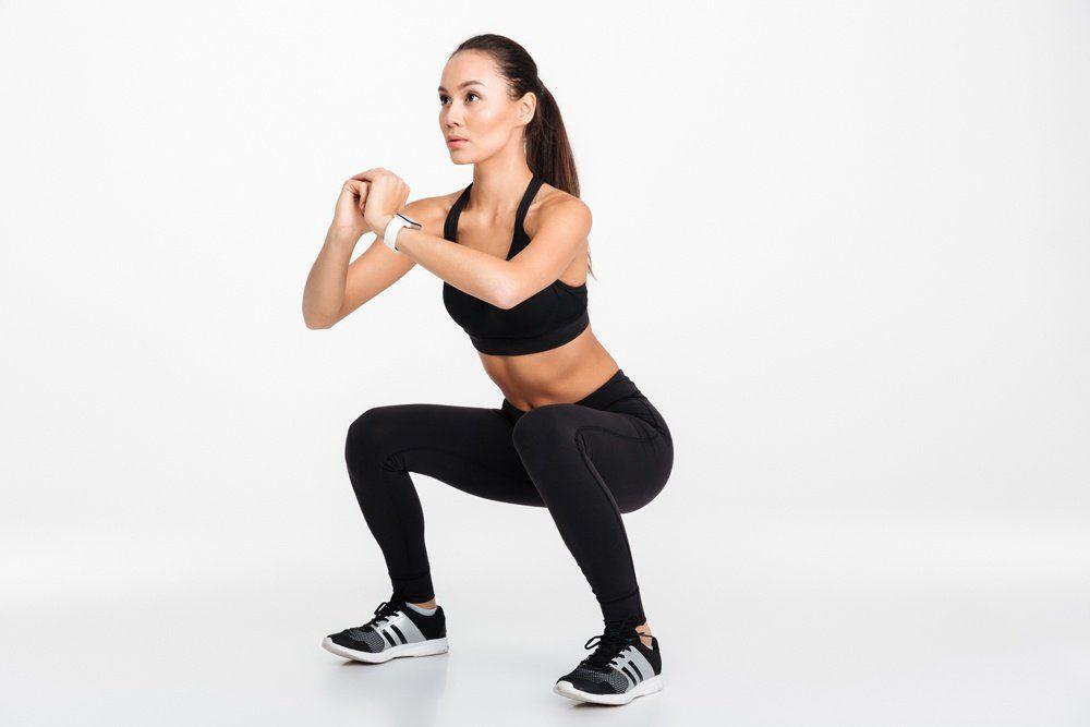 woman doing squats
