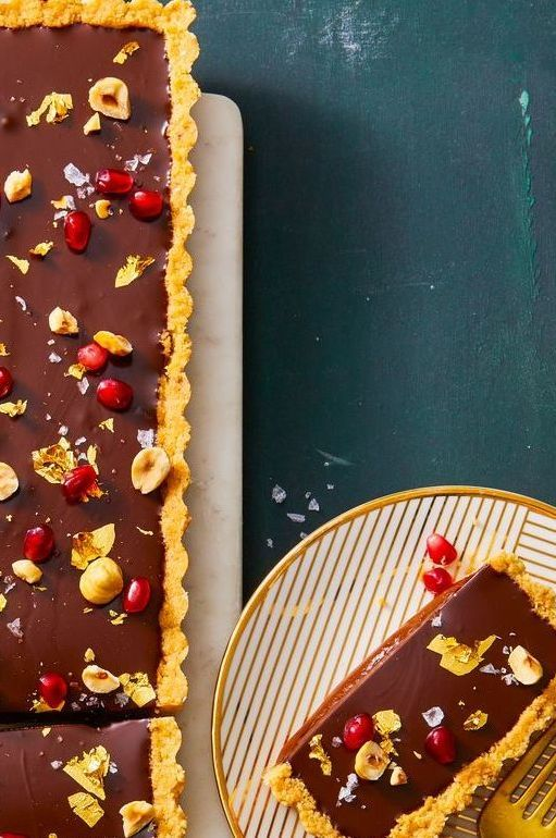 Chocolate, Hazelnut & Caramel Tart