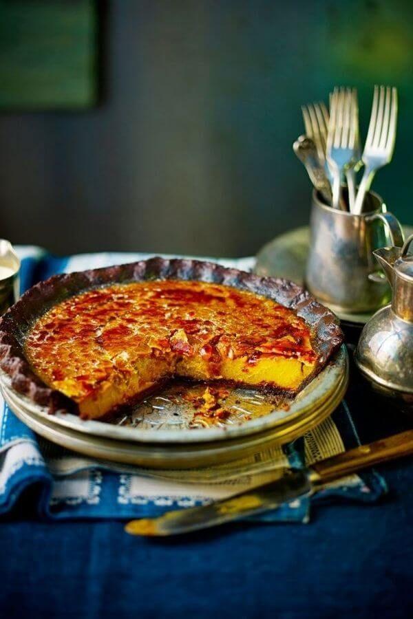 Chocolate Pumpkin Brulee Pie