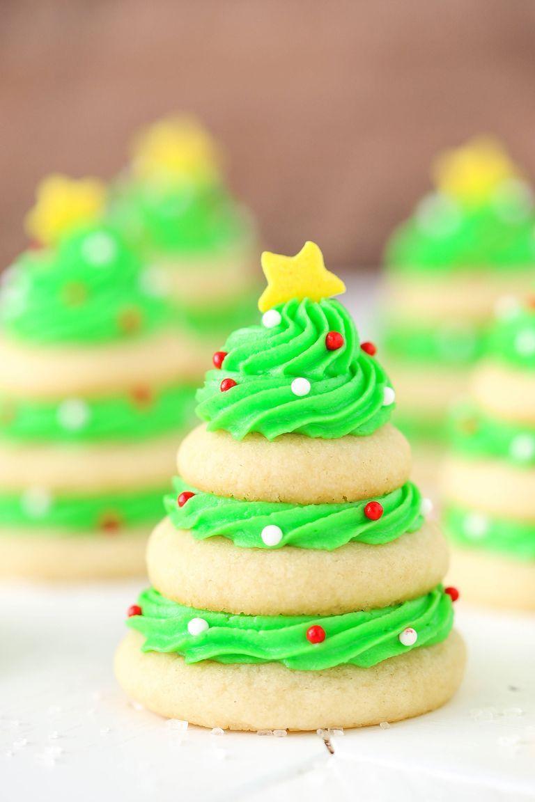 Christmas Tree Cookie Stacks