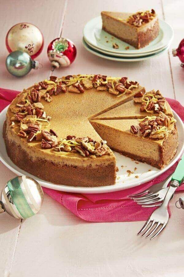 Gingerbread Cheesecake With Pecan-Graham Crust